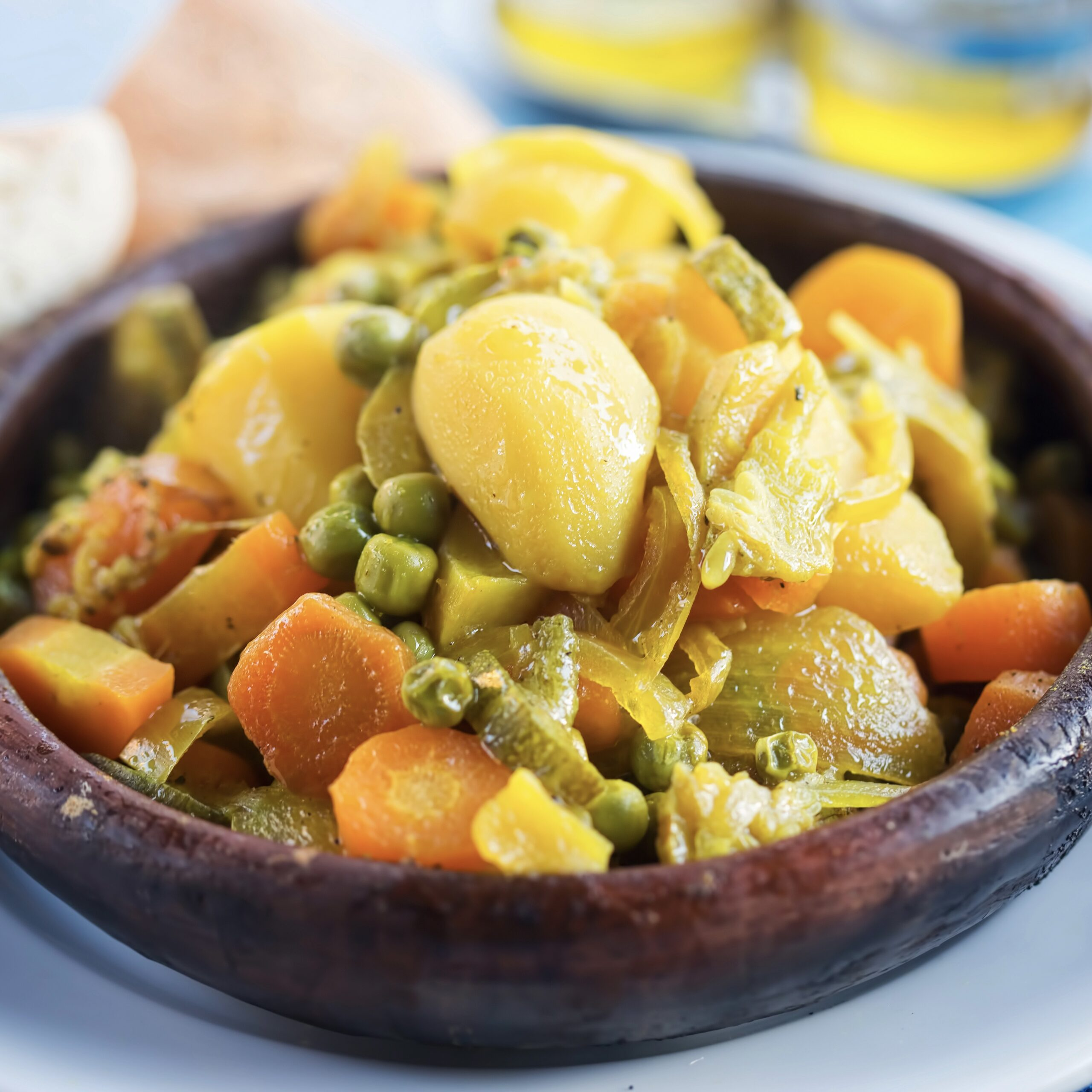 Vegetable tajine, 7 legumes tajine, Morocco